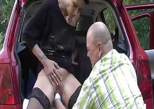Extreme wife brutally fist drilled by the roadside