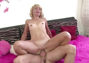 Slender mature gets drilled by a stud