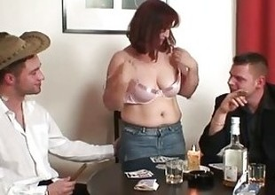 Granny loses in undress poker