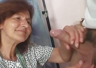He bangs old seamstress doggy style