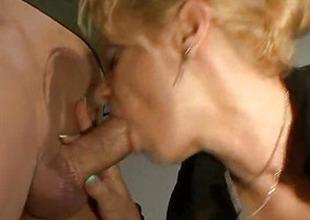Slender golden-haired fucks with her boyfriend