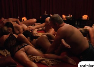 Group of swingers naughty game and fuckfest in Swinger mansion