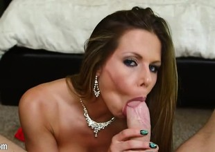 Truly nasty slut team-fucked into her mouth