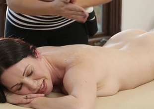 RayVeness, Gracie Glam, Abella Danger in Mom's Magic Massage Scene