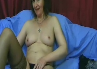 I'm touching my goods in amateurs masterbating vid