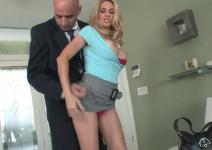 Breastly Angela Attison invited her lover Vin Deacon to visit her home while husband is in the business trip. Sassy and sweet milf starts to seduce him right from the doorway!