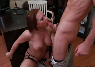 Alan Stafford can't expect any more to stuff his dick in glamorous Katja Kassins back swing