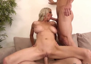 Blonde Emma Starr with huge tits and shaved vagina knows how to take anal sex to the whole fresh level as she does it with hot dude Michael Vegas : Pornalized.com sex movie