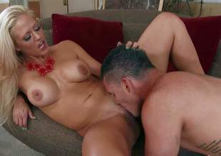 Holly Heart is his allies sinfully sexy milf mom. Big tits, tight smooth pussy and great sexual experience make make her a perfect sex partner for horny younger fellows like Clover. They have a nice tine banging