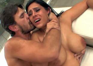 Raylene is a raven haired hot sexy milf with nice body. She demonstrates her huge tits and sexy thick ass as she gets her wet meaty pussy drilled by concupiscent as hell Manuel Ferrara