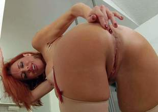 Veronica Avluv is a 4 year old red-haired leggy pornstar. She demonstrates her amazing firm ass and shaved pussy in advance of this babe gives mouth job from your point of view. Veronica Avluv is incredibly hot!