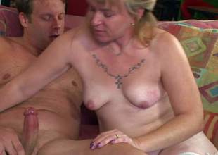 Bethany is a mature slut that wants to fuck all the time. Horny woman in nylons displays her nice ass and natural mounds as she gives head and rides rigid cock in hardcore action