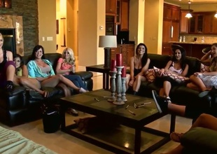 Alektra Blue,Ava Addams, Gianna Nicole and Kayla Kayden are among ten hottest pornstars that gather together to have fun. Thet are in the same mansion and ready to acquire dirty things started.