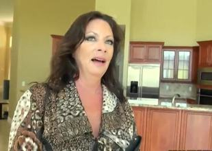 Levi and his busty client are decorating her new house. She wants to pay Levi somehow and finally she decides to fuck him, because she's busty milf and likes large wet cocks