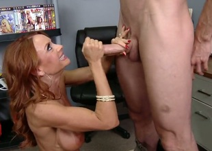 Jordan Ash inserts his cock in lovely Janet Masons mouth