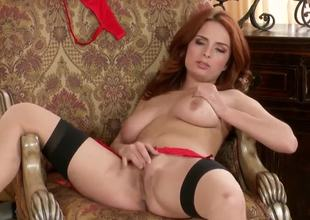 Gorgeous milf Ashley Graham in hotnsexy lingerie spreads her legs to open wide her sweetness hole for ideal fingering.