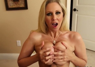 Stylish guy Tyler Nixon gets off together with his exquisite lover Julia Ann and stuffs her mouth with his rod
