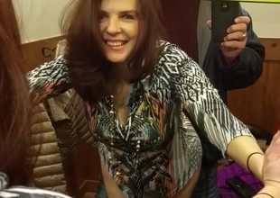Auburn Hair MILF fucks in changing room