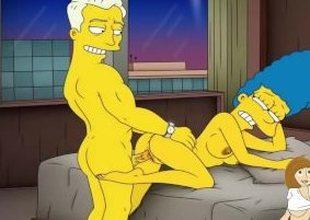 Cartoon Porn Simpsons Porn mom Marge have Fun