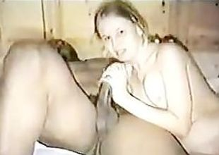husband lets black guy fuck his wife in there bed