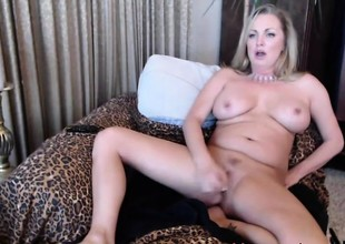Squirting pale MILF Nikki with sweet large mambos