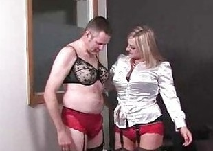 Dominatrix transforms her sissy boy