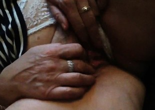 He loves teasing her granny muff